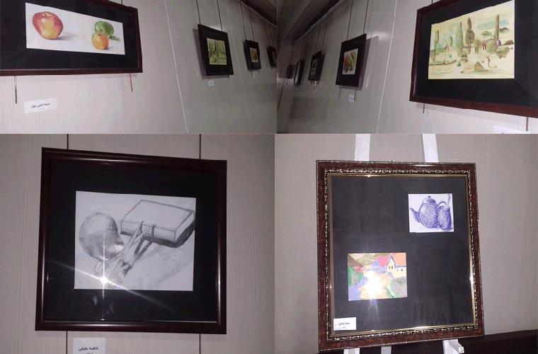 نمایشگاه گروهی نقاشی «مداد رنگی» در فومن گشایش یافت