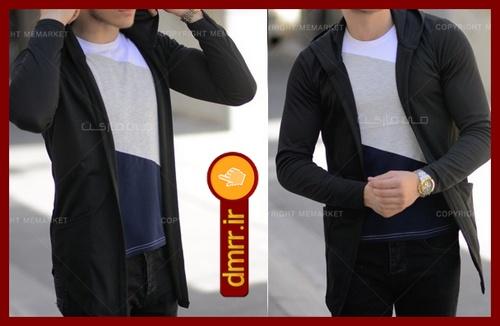 خرید هودی مردانه ساده کلاه دار مشکی فری سایز 1396