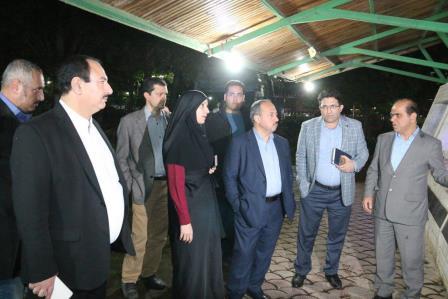 بازدید شهردار رشت از مراحل پایانی آب نمای موزیکال بوستان ملت