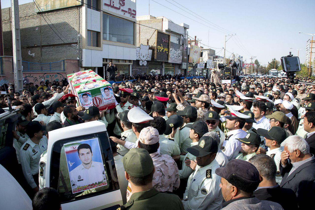 مراسم تشییع پیکر شهید حمید رحیم فر در شیروان برگزار شد