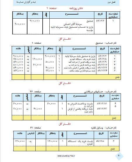 دانلود رایگان کتاب حسابداری عمومی مقدماتی شهرام روزبهانی PDF