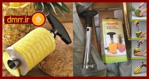 دستگاه دستی پوست کن آناناس اسلایسر فلزی