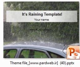 دانلود رایگان تم و قالب پاورپوینت ماشین و باران