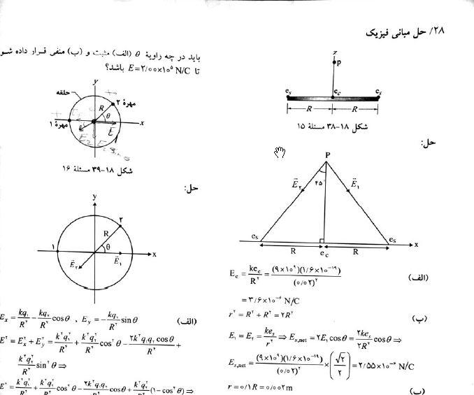 دانلود کتاب حل المسائل مبانی فیزیک هالیدی جلد دوم الکتریسیته ومغناطیس pdf زبان فارسی