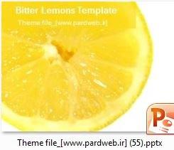 قالب پاورپوینت پرتقال-میوه