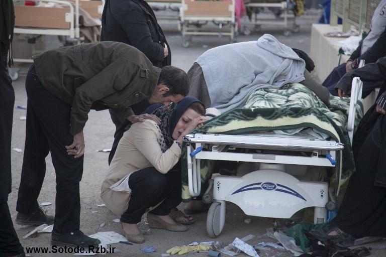 عکس از زلزله کرمانشاه - گریه و درد کرمانشاه