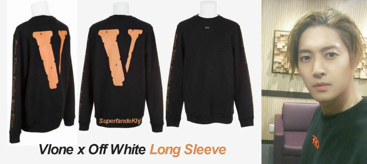 [Sponsor] Vlone x Off White Long Sleeve that HJ wears today on the picture posted on his Instagram [2017.11.30]