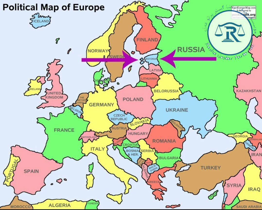 نقشه و موقعیت کشور استونی
