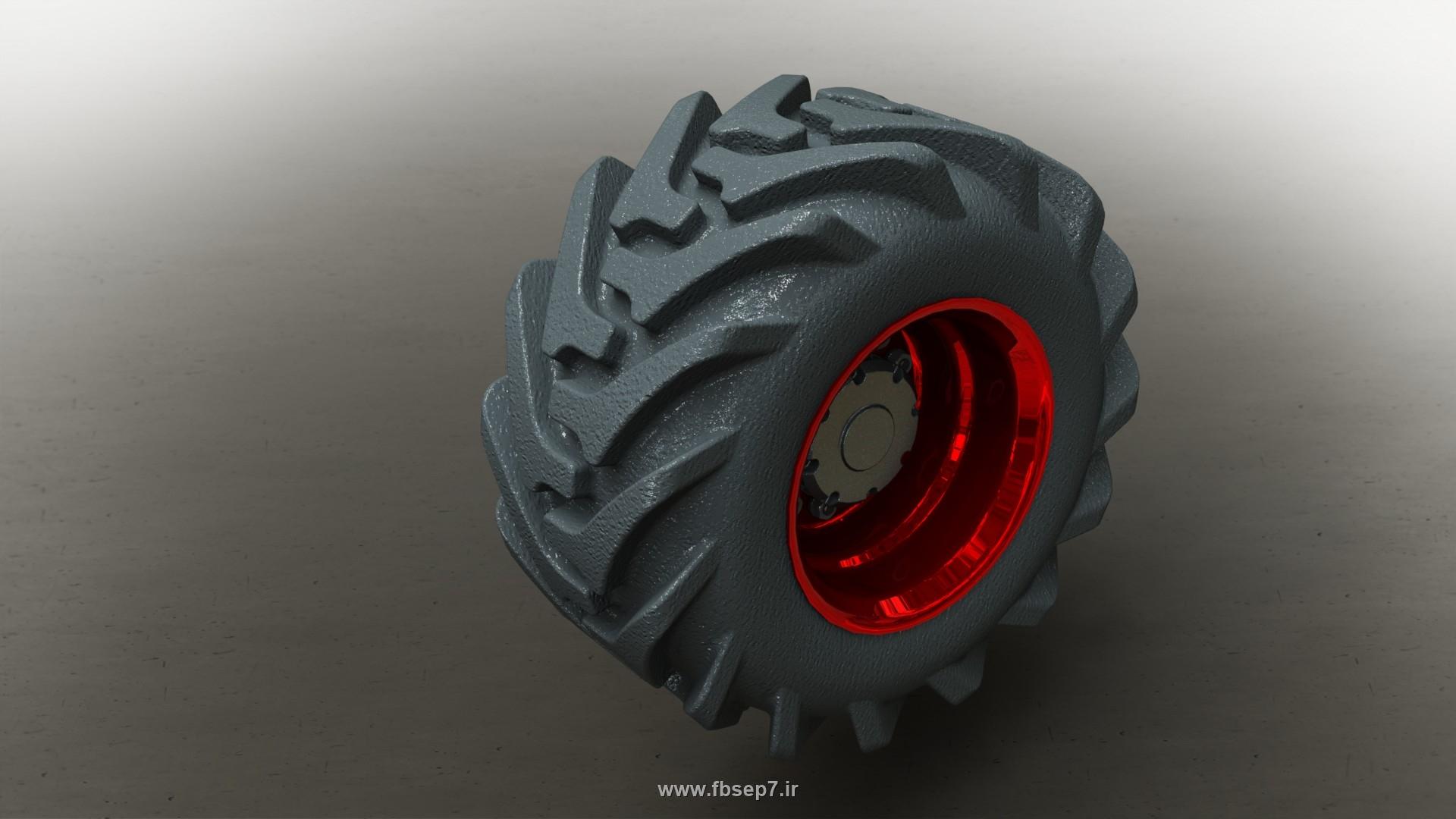 طراحی تایر تراکتور در سالیدورک