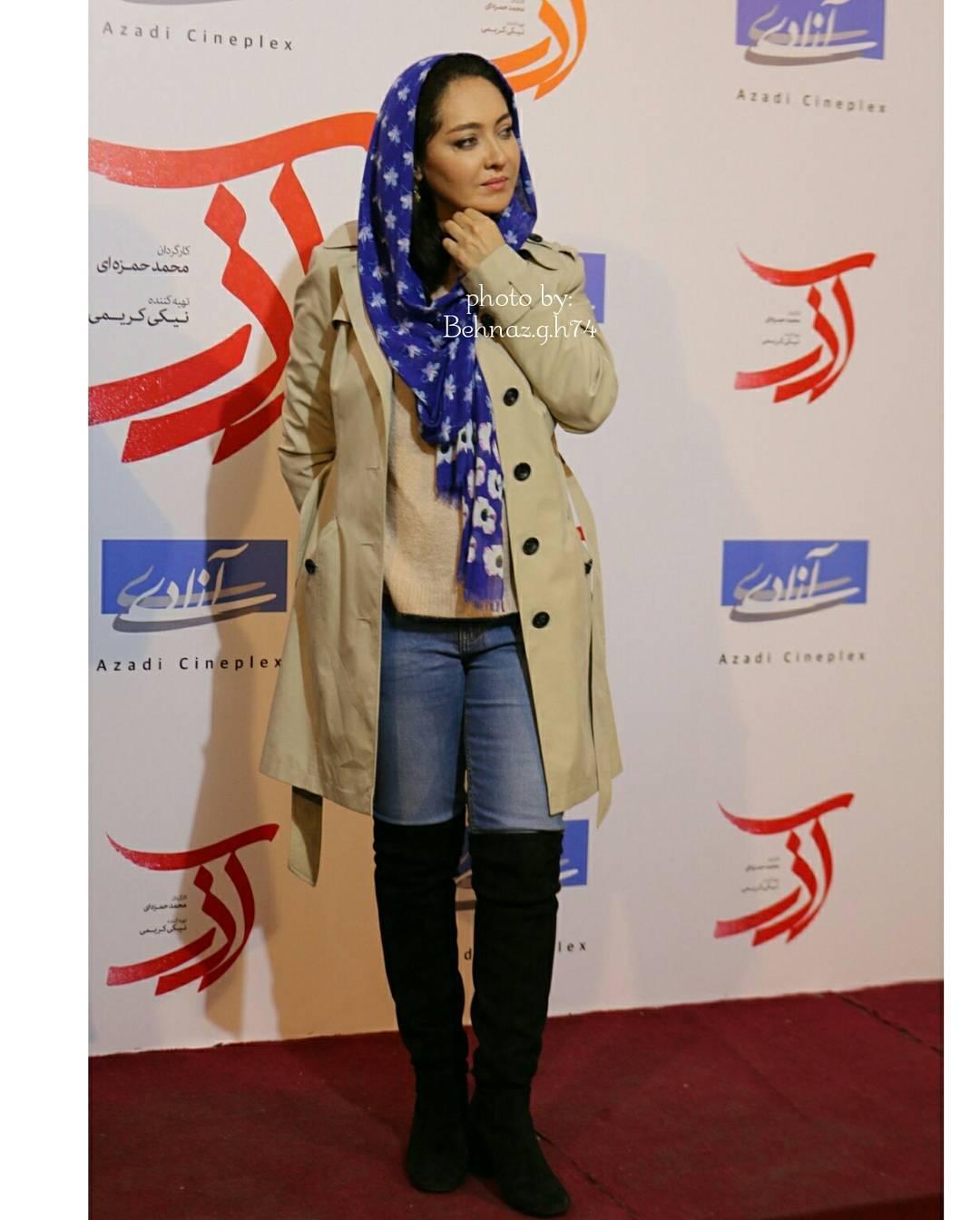 عکس های نیکی کریمی در اکران فیلم آذر