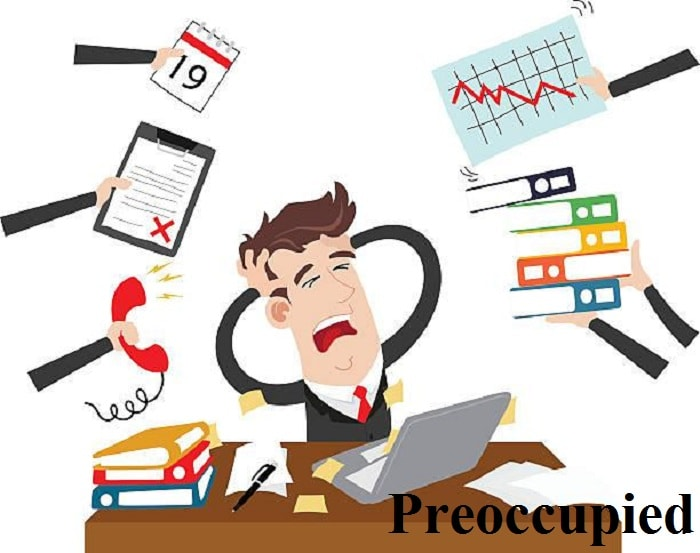مشغول – Preoccupied – آموزش لغات کتاب ۵٠۴ – English Vocabulary – کدینگ لغات ۵٠۴