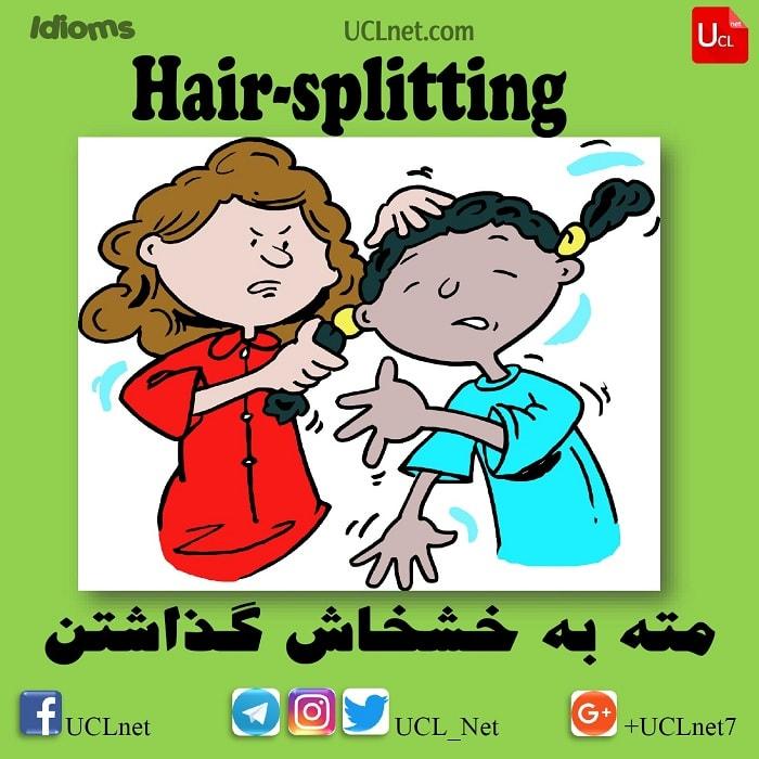 مته به خشخاش گذاشتن – Hair-splitting – اصطلاحات زبان انگلیسی – English Idioms