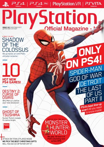 PlayStation Official Magazine Xmas 2017 Issue 143