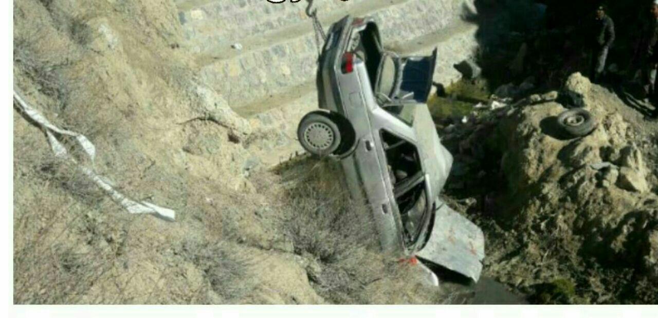 کشته شدن یک زن باردار به همراه شوهر  در سقوط یک دستگاه خودروی پژو در رازوجرگلان
