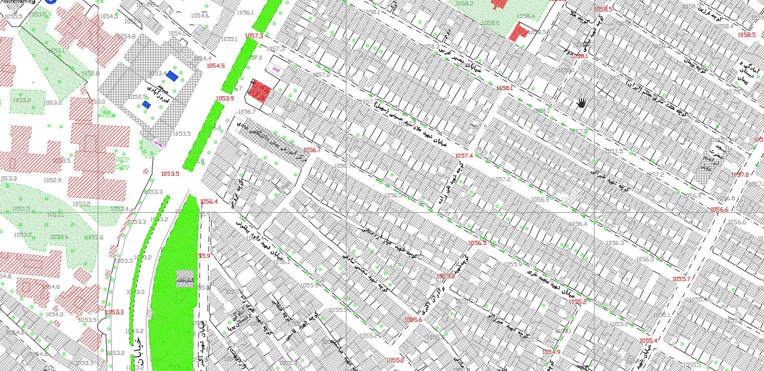 دانلود نقشه اتوکد خام منطقه 20 تهران