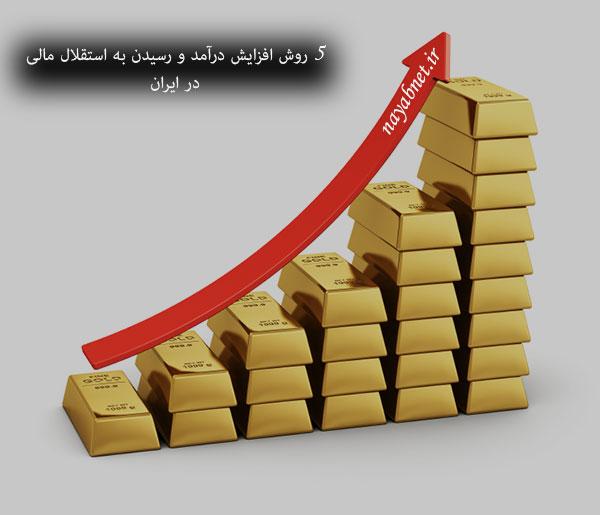روش افزایش درآمد _ رسیدن به استقلال مالی در ایران _ ثروتمند شدن در ایران