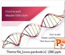 تمپلیت پاورپوینت ساختار کروموزوم