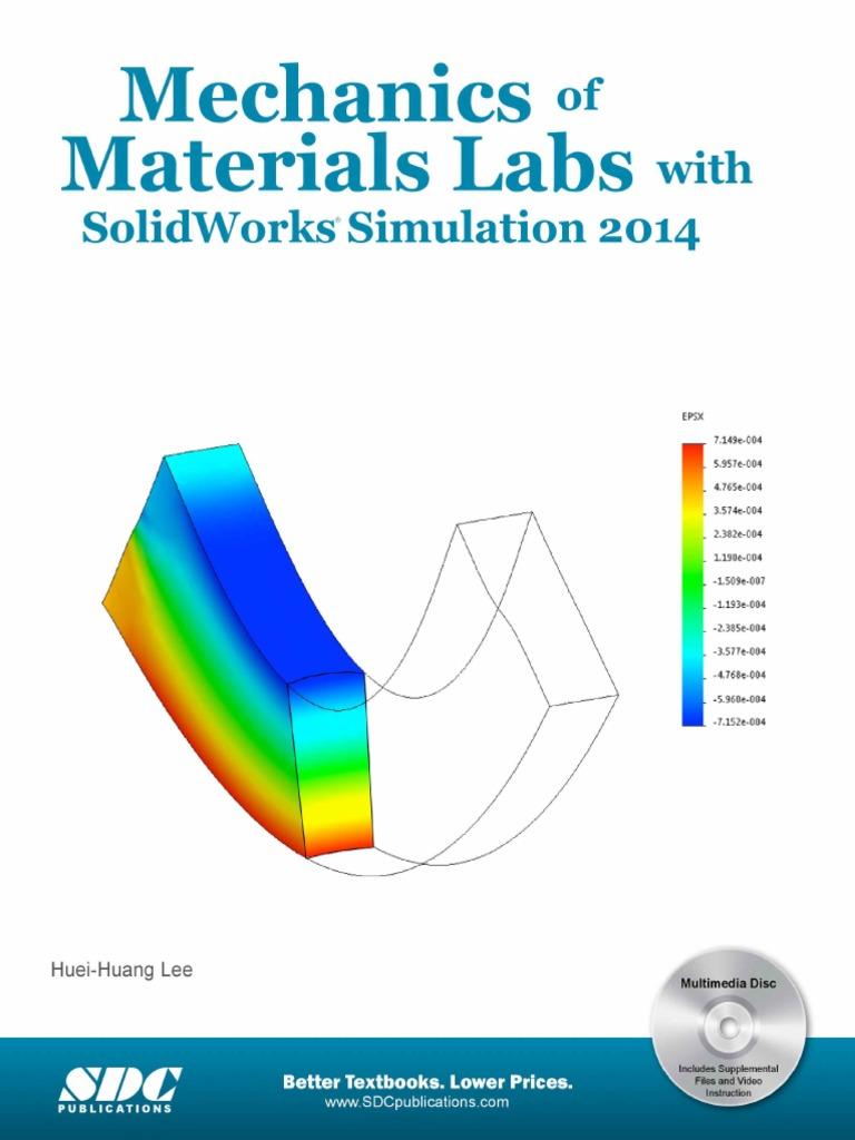 آزمایشگاه مقاومت مصالح با نرم افزار سالیدورک