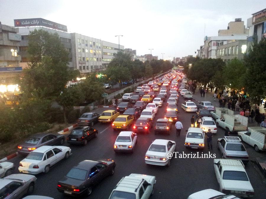 ترافیک بازار تبریز