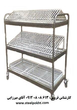 فروش ترولي حمل ظروف دو طبقه