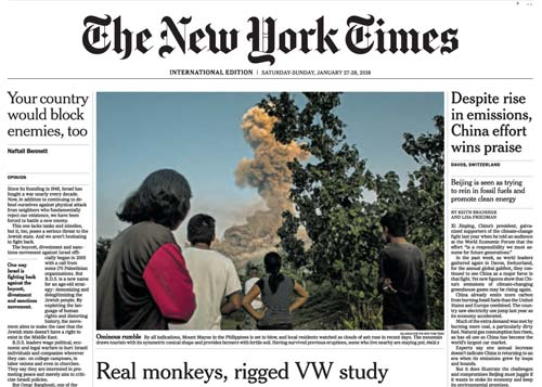 International New York Times 27-28 January 2018