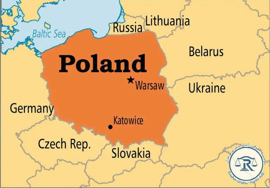 موقعیت لهستان در نقشه جهان