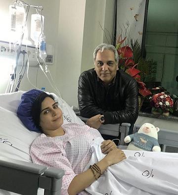 عيادت مهران مديري از الناز شاکردوست - الناز شاکردوست در بيمارستان