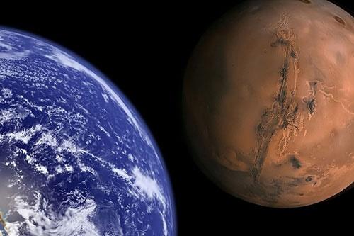 مریخ از دید زمین