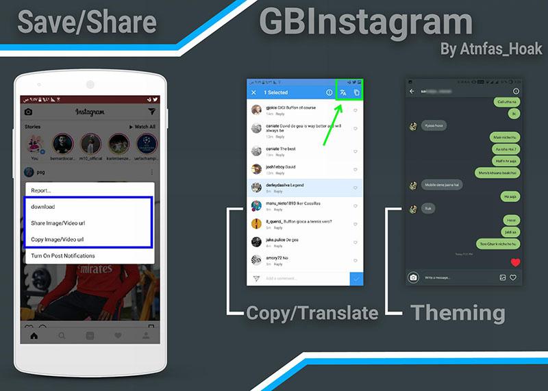 جی بی اینستاگرام با امکانات بیشتر از نسخه ی اصلی اینستاگرام GBInstagram