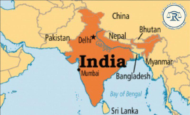 موقعیت هند در نقشه
