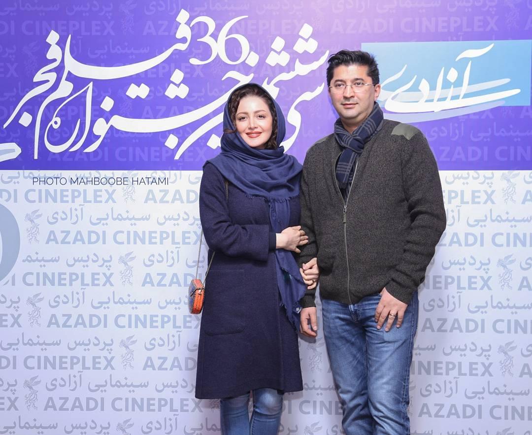شیلا خداد و همسرش فرزین سرکارات در جشنواره فیلم فجر
