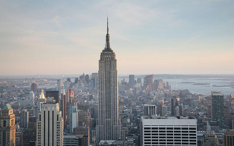 ساختمان امپایر استیت در نیویورک؛ آمریکا