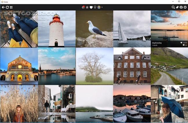 grids for instagram - نرم افزار اینستاگرام برای نسخه ویندوز 32 بیتی