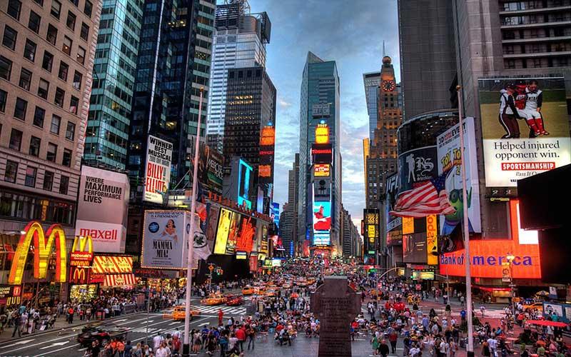 میدان تایمز در نیویورک؛ آمریکا
