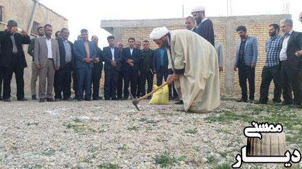 کلنگ زنی مسجد مورکی و حسینیه روستای دشت رزم