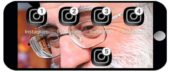 نصب همزمان ۵ اینستاگرام در یک گوشی