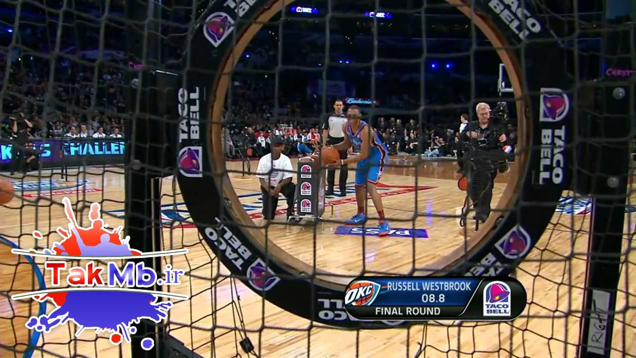 استفن کری، در مسابقه مهارت بسکتبال NBA