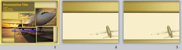 دانلود رایگان قالب پاورپوینت هواپیما