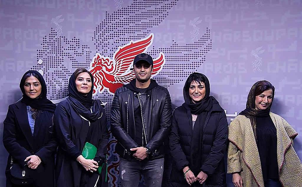 بازیگران باران کوثری، امیر جدیدی، لیلی رشیدی، هدی زینالعابدین و سحر دولتشاهی سینمایی عرق سرد در جشنواره فیلم فجر