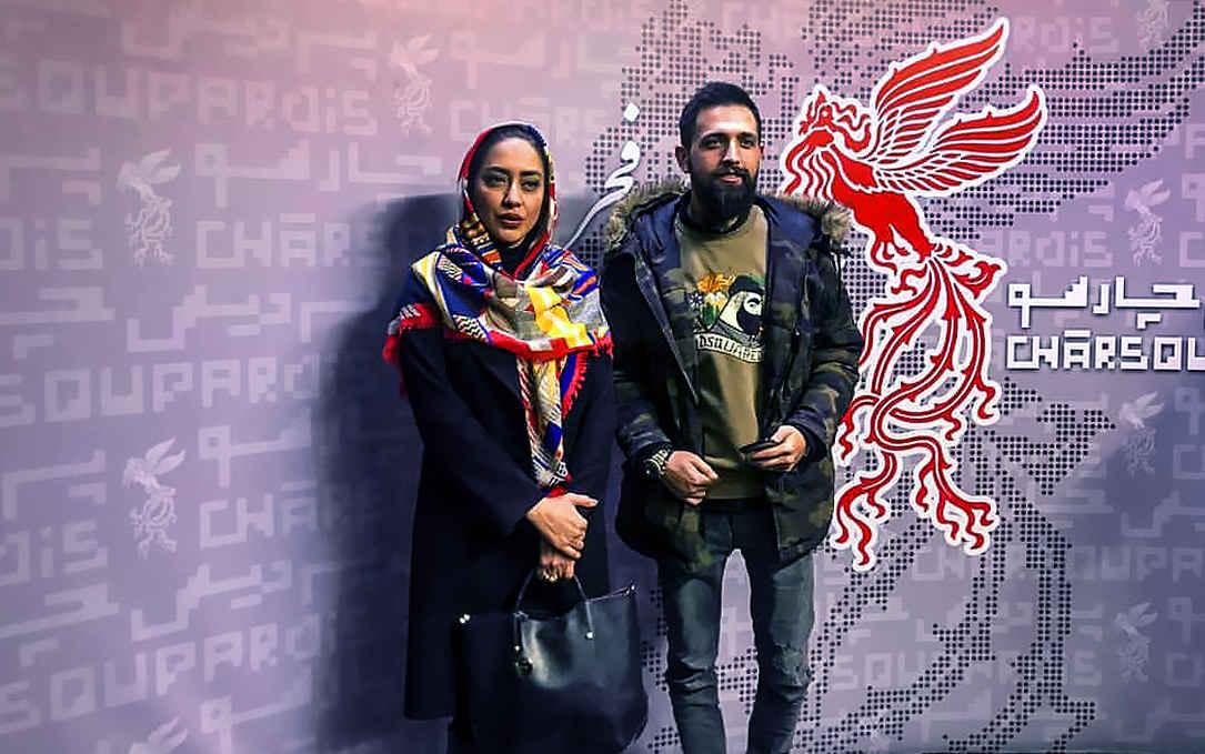 محسن افشانی و بهاره کیان افشار بازیگر در جشنواره فیلم فجر