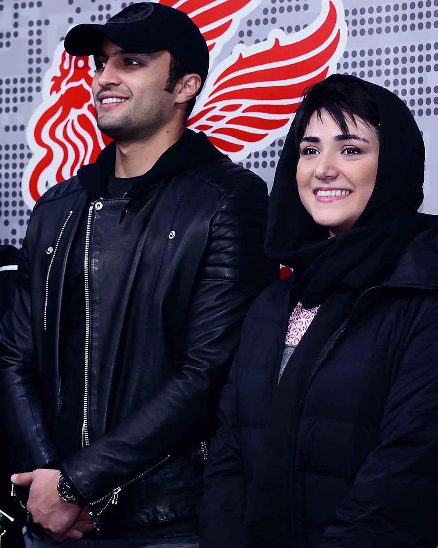 بازیگران باران کوثری و امیر جدیدی در جشنواره فیلم فجر