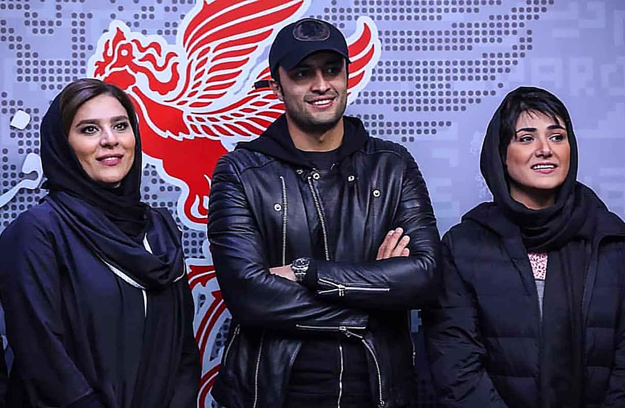 بازیگران باران کوثری، امیر جدیدی و سحر دولتشاهی در جشنواره فیلم فجر