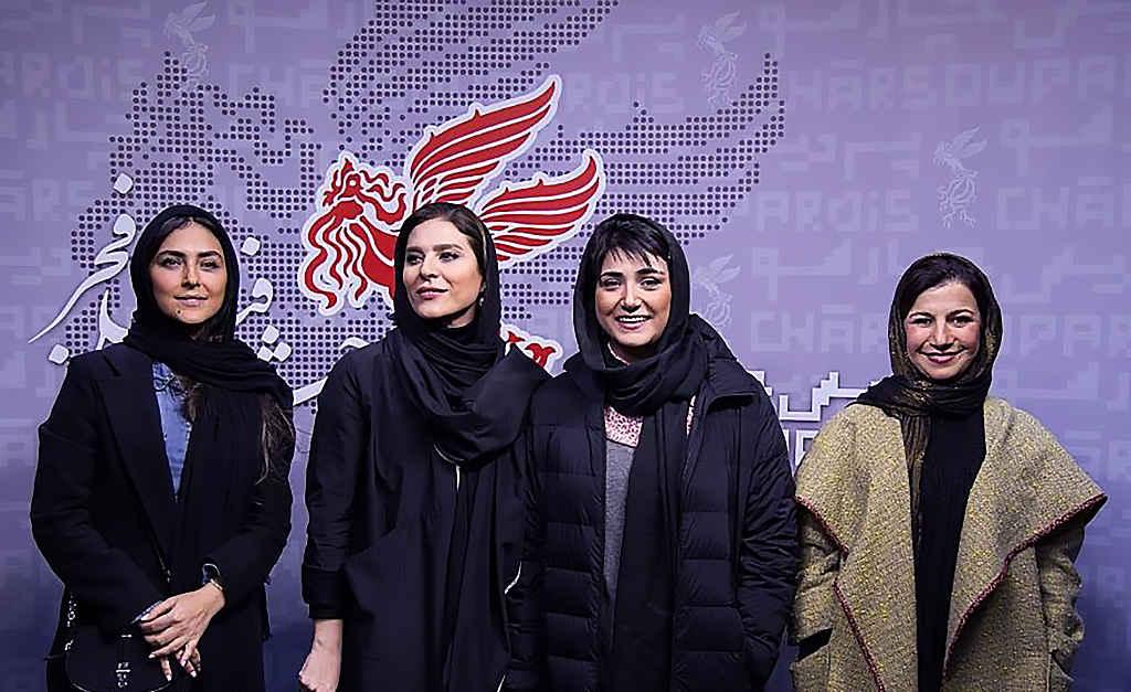 بازیگران باران کوثری، لیلی رشیدی، هدی زینالعابدین و سحر دولتشاهی سینمایی در جشنواره فیلم فجر
