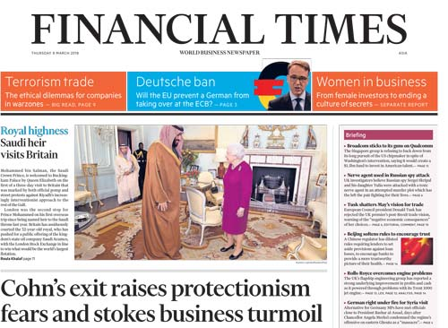 Financial Times Asia 08 March 2018