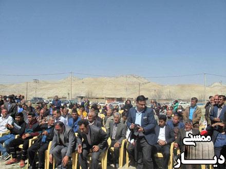 کلنگ زنی گاز رسانی به روستاهای بخش دشمن زیاری