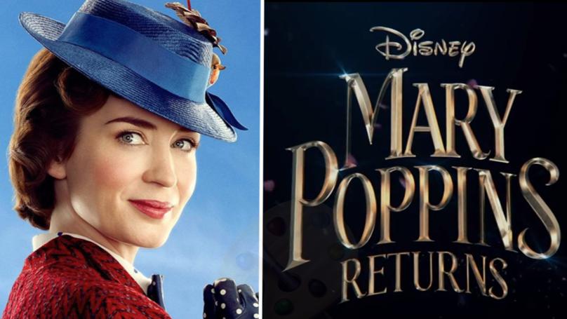 پوستر منتشر شده فیلم مری پاپینز باز میگردد ، Mary Poppins Returns !