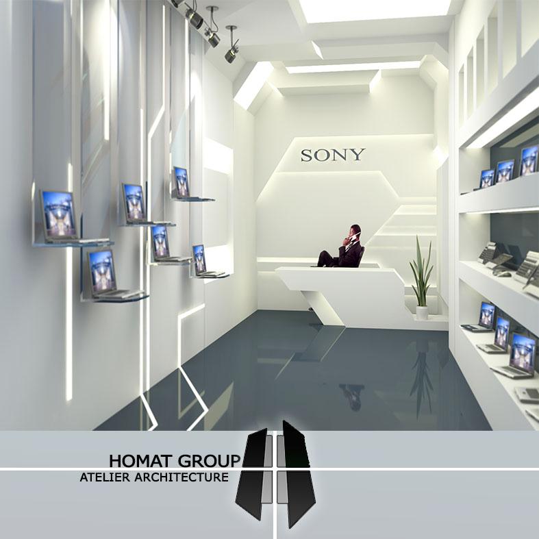 طراحی  فروشگاه سونی  تهران ( مجتمع کامپیوتری شمرون)