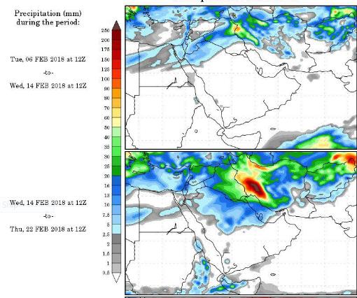 نقشه های بارش ecmwf