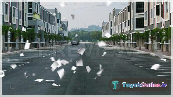 دانلود فوتیج بدون پس زمینه ریزش کاغذ معلق در هوا بر روی زمین