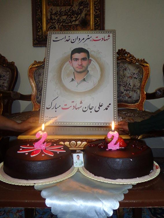 کیک تولد شهید دولت آبادی 1392
